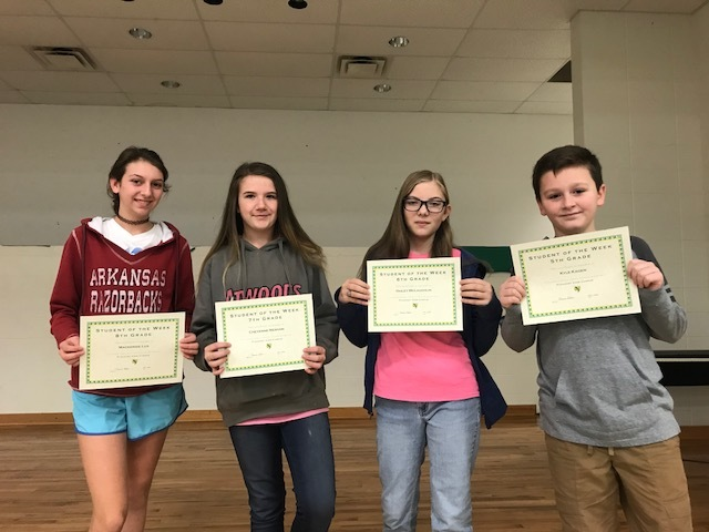 Pleasant View Students' of the Week