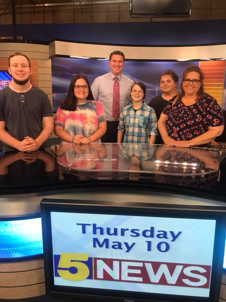 MHS Journalism Students Visit Channel 5 News